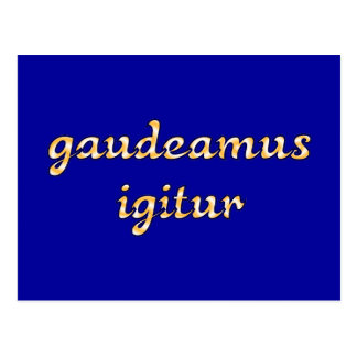 gaudeamus igitur latín latin postal