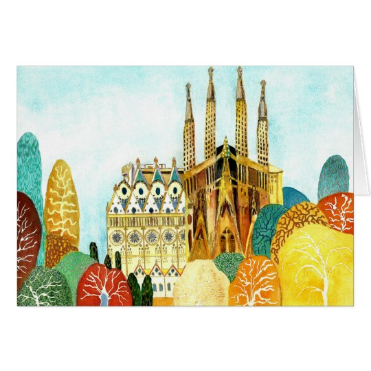 Gaudi 's Barcelona Tarjeta De Felicitación