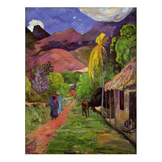 Gaugin - camino en Tahití Postal