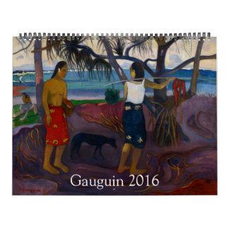 Gauguin 2016 enorme calendarios de pared