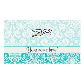 Gaviota linda del dibujo animado tarjetas de visita