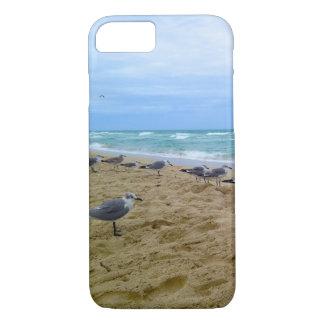 Gaviotas en la cubierta del iPhone de la playa Funda Para iPhone 8/7