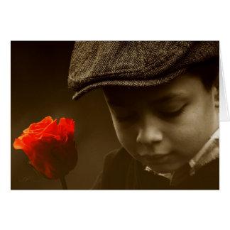 Gavroche enamorado tarjeta de felicitación