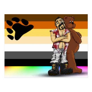 Gay bear bandera Postal card