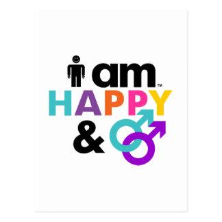 Gay feliz y LBGT aceptable Tarjeta Postal