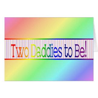 Gay/lesbiana de la invitación del embarazo tarjeta de felicitación