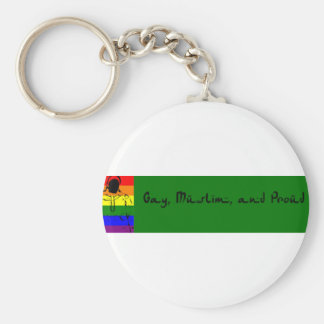 Gay musulmán y orgulloso llaveros personalizados