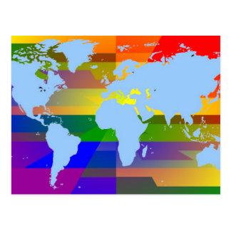Gay soy postales del mapa de la tierra