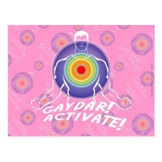 ¡Gaydar ¡Active Gay del arco iris Postales