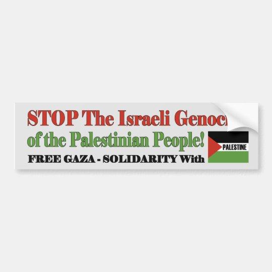 Gaza libre y Palestina Pegatina Para Coche