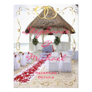 Gazebo en la tarjeta de la recepción nupcial de la invitación personalizada