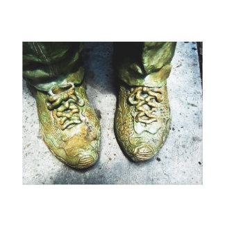 Gazer del zapato impresión en lienzo