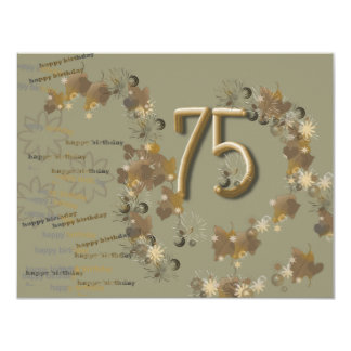 geburtstagskarte a 75. ten invitación 10,8 x 13,9 cm