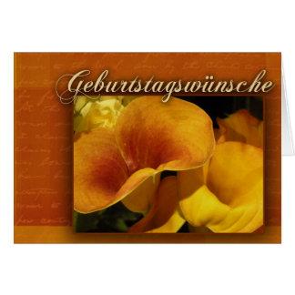geburtstagswnsche - feliz cumpleaños alemán tarjeta