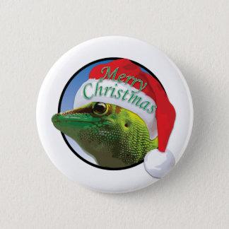 Gecko del navidad - estándar, botón redondo de la