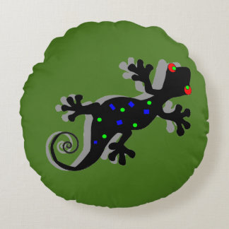 Gecko enrrollado - almohada bohemia del acento cojín redondo