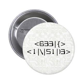 Geek inside chapa boton