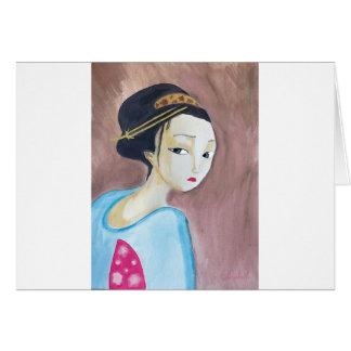 geisha de los japonesae felicitaciones