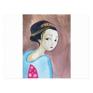 geisha de los japonesae postal