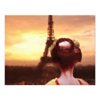 Geisha en París Invitación Personalizada