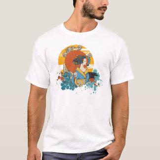 geisha japonesa camiseta
