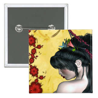 Geisha moderno chapa cuadrada 5 cm