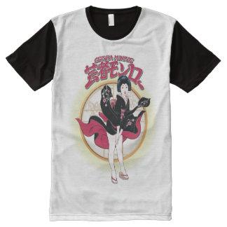 Geisha Monroe por todo la camiseta impresa del