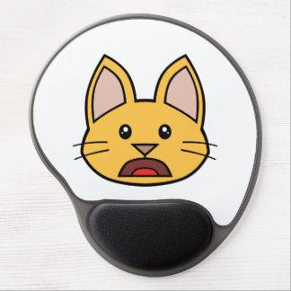 Gel anaranjado Mousepad 01 del gato FACE0000004 Alfombrilla Gel