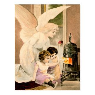 Gel, de protección, niños y fuegos, postal