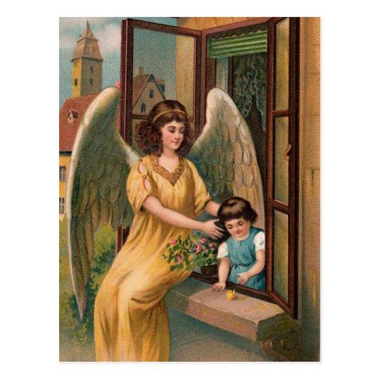Gel, de protección y chica a la ventana postal