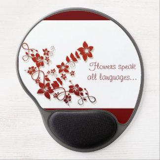 Gel floral Mousepad del arte del vector Alfombrilla Gel