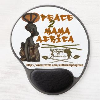 Gel Mousepad de mamá África de Brown Alfombrilla De Ratón Con Gel