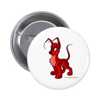 Gelert rojo orgulloso chapa redonda 5 cm