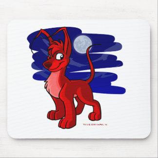 Gelert rojo orgulloso por claro de luna alfombrilla de ratón
