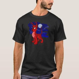 Gelert rojo orgulloso por claro de luna camiseta