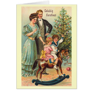 """""""Gelukkig Kerstfeest """" Tarjeta De Felicitación"""