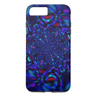 Gema azul del fractal del zafiro funda iPhone 7 plus