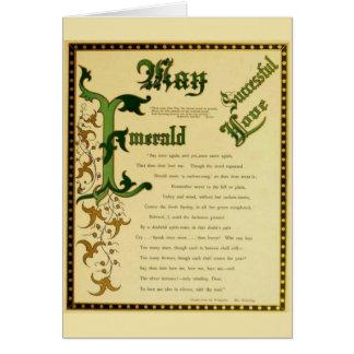 Gema de la esmeralda de mayo tarjeta de felicitación