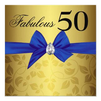 Gema ornamental cincuenta fabulosos del arco del invitación 13,3 cm x 13,3cm