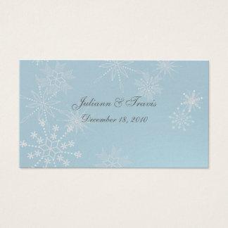 Gemas del copo de nieve que asientan la tarjeta