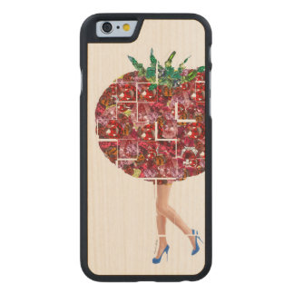 Gemas del tomate funda de arce para iPhone 6 de carved