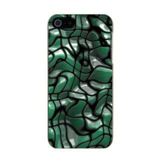 Gemas verdes abstractas carcasa de iphone 5 incipio feather shine