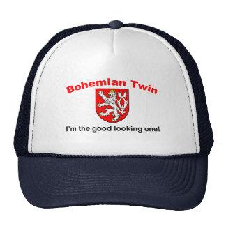 Gemelo bohemio apuesto gorras de camionero