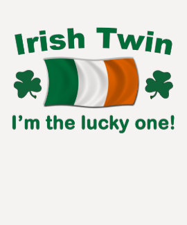 Gemelo irlandés afortunado camiseta