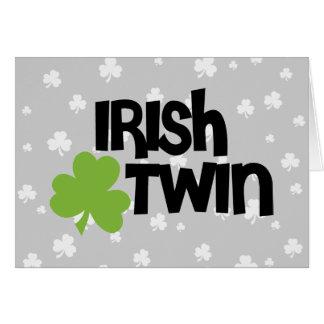 Gemelo irlandés tarjeta de felicitación