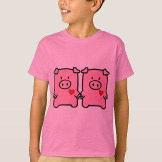 Gemelo Oink Camiseta