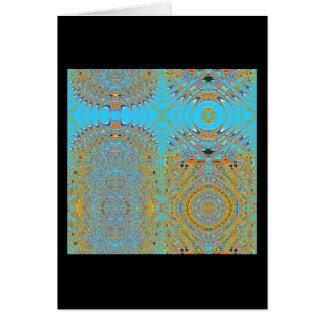 Gemelos abstractos tarjeta de felicitación