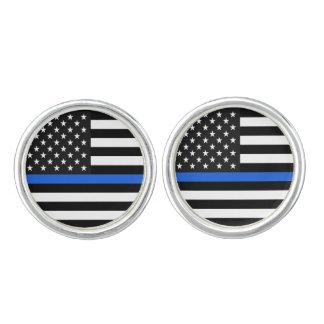 Gemelos Bandera americana fina de Blue Line