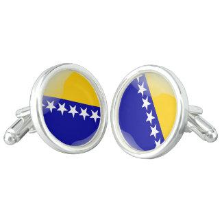 Gemelos Bandera brillante bosnio
