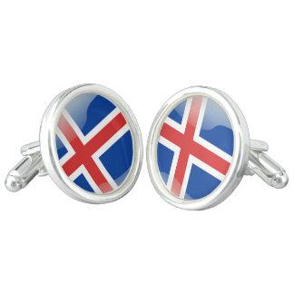 Gemelos Bandera brillante de Islandia